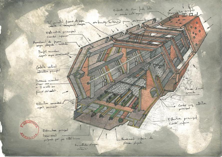 El Puntavui Admetlla projecta un pont 'enigmàtic' per a la Girona vella
